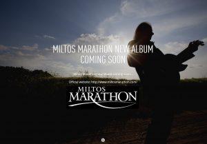 Χαίρετε φίλες και φίλοι μου. Νέο Miltos Marathon album είναι καθ&#